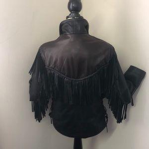 Other - Heavy Leather fringe coat